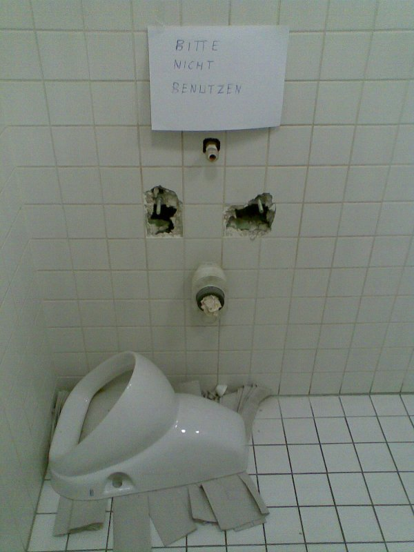 Bitte nicht benutzen